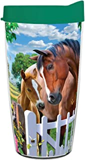 product image for Smile Drinkware USA-AT THE GARDEN GATE 16oz Tritan Insulated Tumbler With Lid and Straw