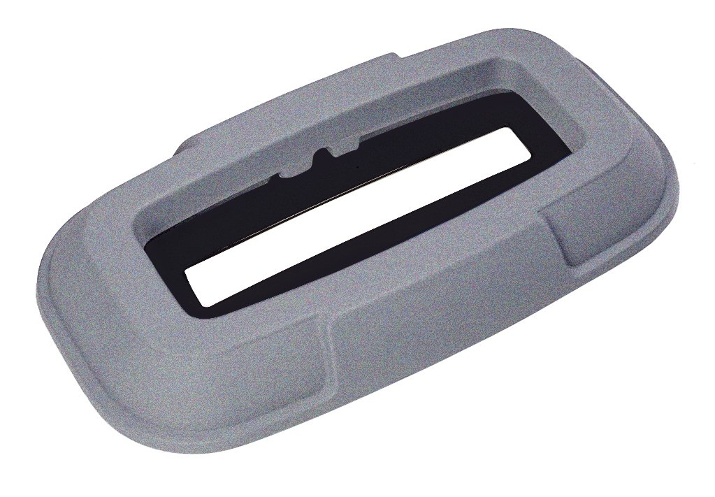 Toter 0RDS21-R1GST Paper Document Slot Lid for 23-Gallon Slimline Trash Can, Graystone