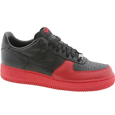 Nike Air Force 1 07 Faible Fac Noir Noir 6s Rouge