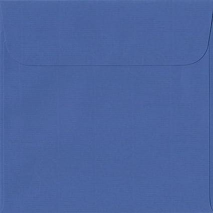 Pack de 100 Royal azul 160 mm x 160 mm con cierre autoadhesivo/papel de colores sobres (100 G/m²: Amazon.es: Oficina y papelería