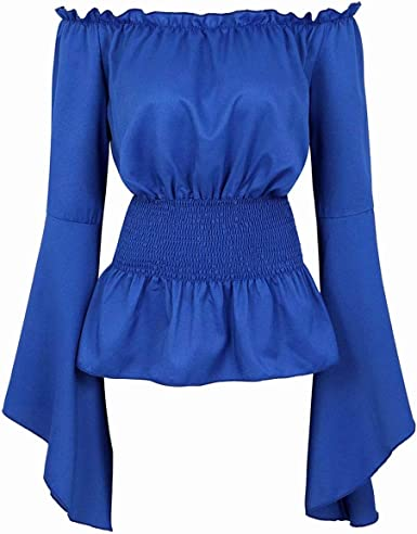 Camisas Mujer Blusas Verano Medieval Elegantes Manga Larga Blusas Tops gótica Retro Vintage renacentista