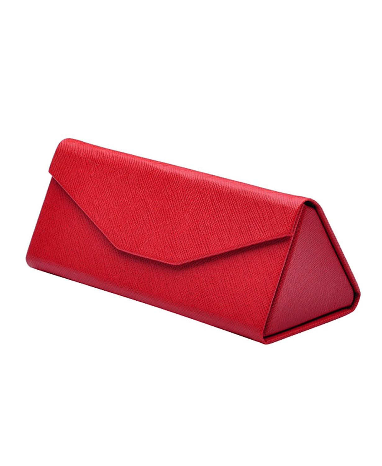 Boomly Foldable Triangle Glasses Case Sunglasses Magnetic Storage Box PU Leather Eyeglass Case Lightweight Eyewear Holder Eyewear Frame Protective Case
