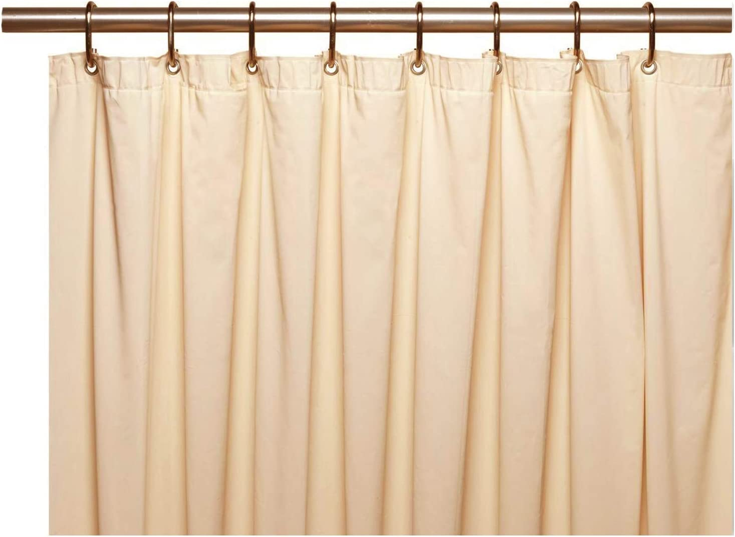 Elegant Home Heavy Duty Vinyl Shower Curtain Liner with 12 Metal Grommets Bright Pink