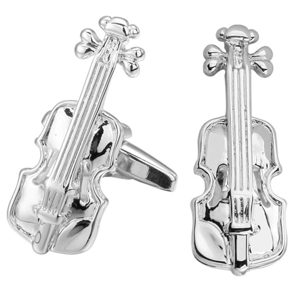 6 Styles to Choose from Guitar Keyboard Trumpet Saxophone Musical Instrument Cufflinks Drums Violin
