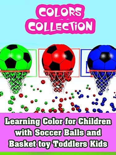 Price comparison product image Learning Color for Children with Soccer Balls and Basket toy Toddlers Kids