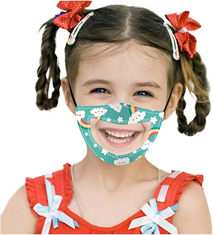 Ppanguding 1 3pc Mundschutz Kinder Waschbar Wiederverwendbare Transparent Mit Motiv Atmungsaktive Staubdicht Mund Und Nasenschutz Halstuch Bandana Multifunktionstuch Für Junge Mädchen Bekleidung
