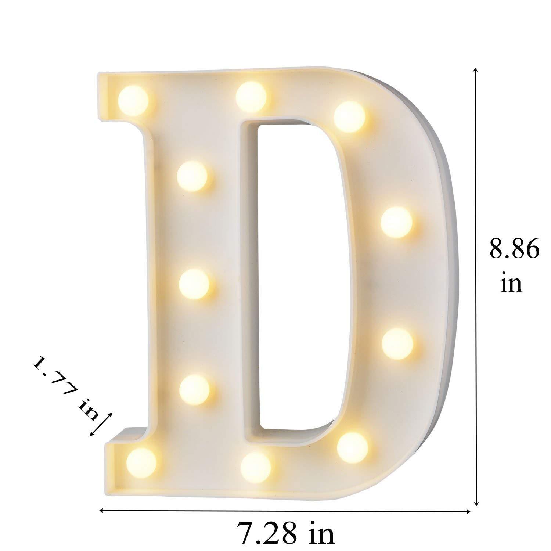 Hiyt Led Alphabet Letter Lights Decorative Warm Plastic Light Up Valentine Chaser Letters B