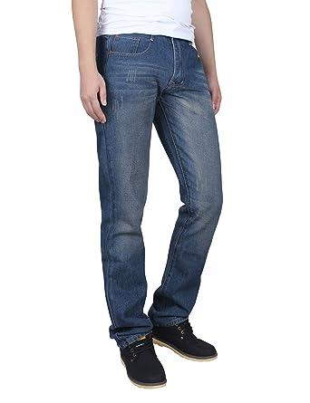 aac22414066f9 Demon and Hunter 806 Serie Herren Regulär Gerade geschnitten Jeanshose  Jeans DH8031(33)