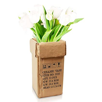 225 & Flower Vase Flower Vase Cardboard Carton Optics Deco Vase ...