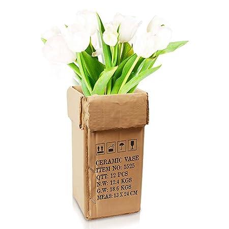 Flower Vase Flower Vase Cardboard Carton Optics Deco Vase Trendy