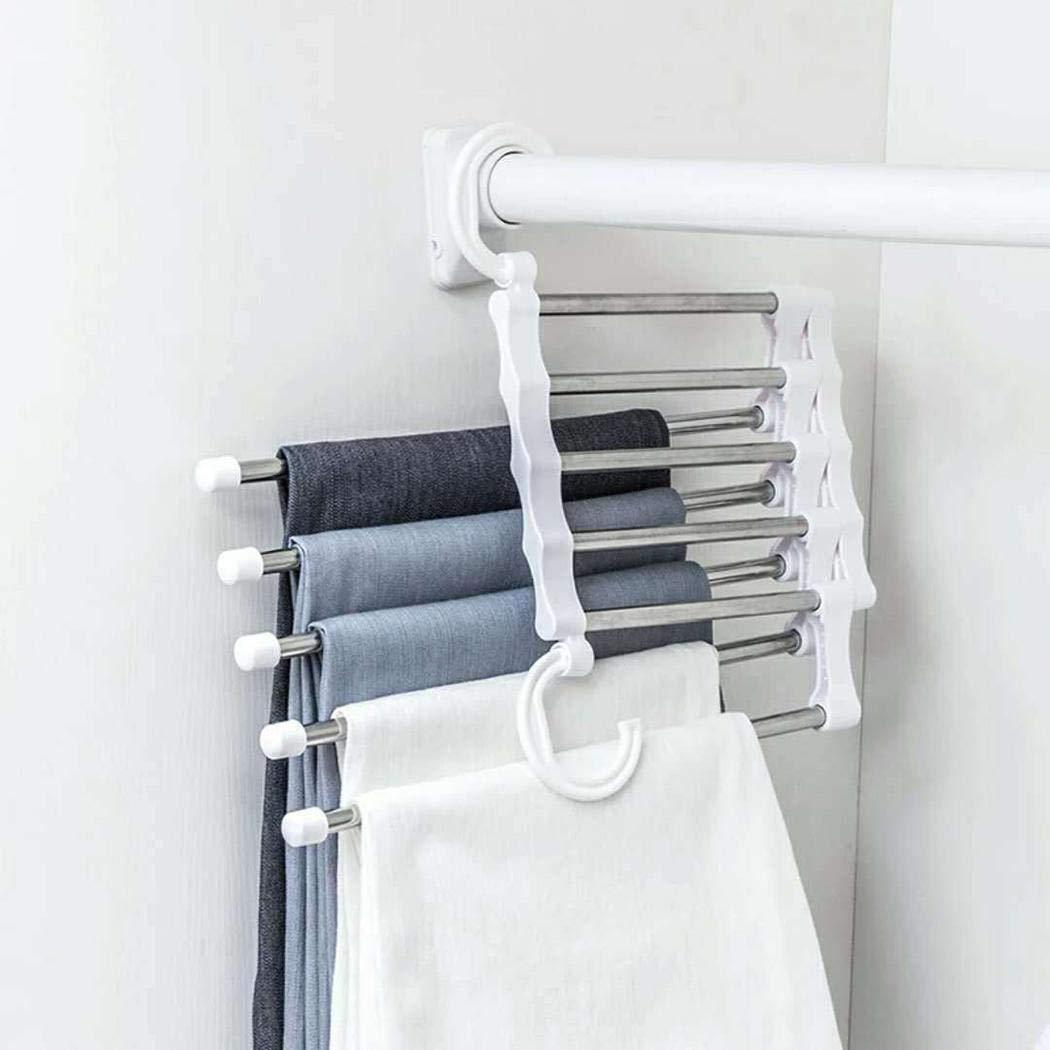 Kaimus M/últiples capas Perchas Closet Jeans Pantalones Organizador de almacenamiento Rack Estanter/ías y almacenaje