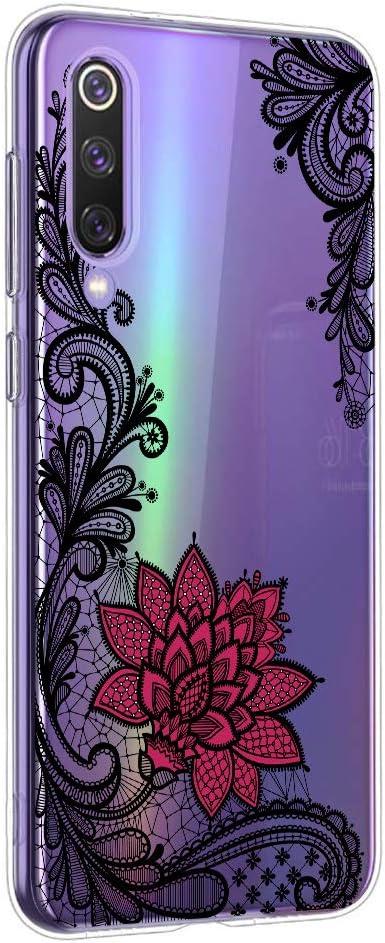 Oihxse Mandala Flores Encaje Patrón Serie Case Compatible con OnePlus 7T Funda TPU Silicona Suave Protector Ultra Slim Anti-Rasguño Transparente Carcasa (A5)