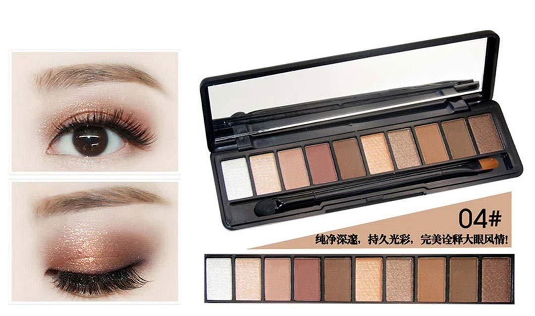 Amazon Meijili Makeup Palette Natural Peach Color Eye Makeup