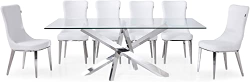 Zuri Modern Cortez 79 Inch Dining Table