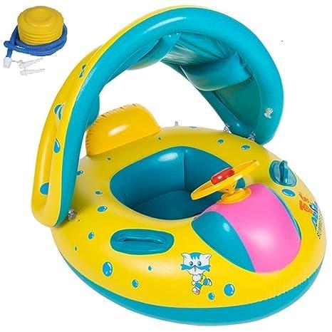 Flotador para Bebé Flotador con asiento techo del sol Juguete de Piscina Nata Natación Baby Float