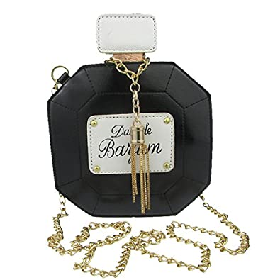 89cc876bc1 Donalworld Women Chain Perfume Bottle Clutch Bag Handbag Party Purse  Evening Bag Black  Amazon.co.uk  Shoes   Bags