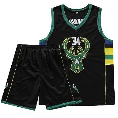 CTNAN Camiseta De Baloncesto NBA para Hombre Camiseta Milwaukee ...