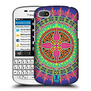 Head Case Designs Blue Mandala Cross Pattern Protective Snap-on Hard Back Case Cover for BlackBerry Q10