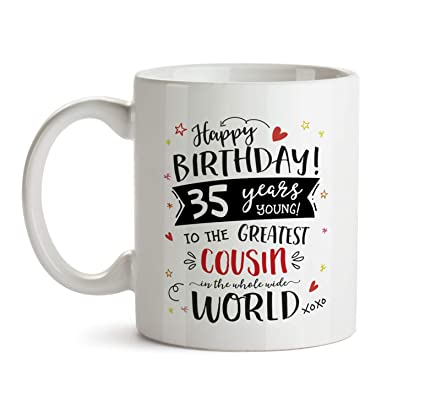 Amazon 35th Happy Birthday Gift Mug