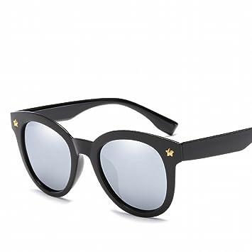 Polarisierte Sonnenbrille Große Rahmen Personalisierte Sonnenbrille Mode Retro Persönlichkeit Nagel Sonnenbrille , Pulverrahmen