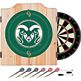 Colorado State University Deluxe Solid Wood Cabinet Complete Dart Set - Officially Licensed!