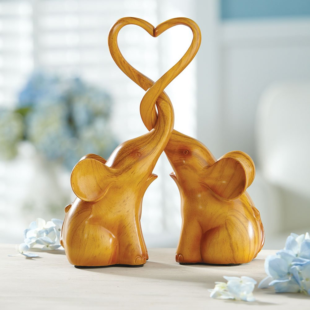 Two Piece Loving Elephants with Heart Sculpture - Exclusive by SIGNALS (Image #2)