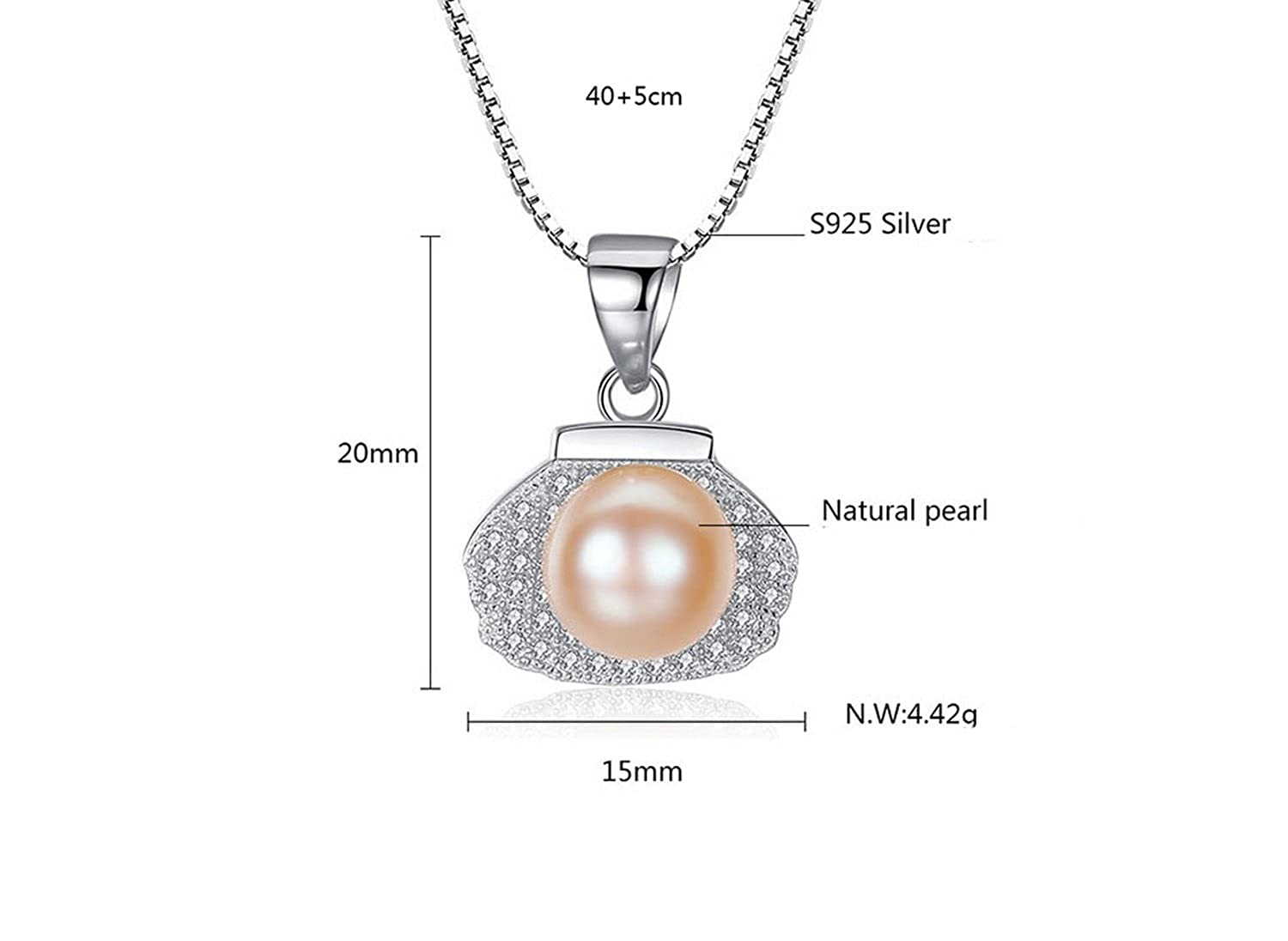 CS-DB Jewelry Silver Lucky Lock Luxury Pearl Chain Charm Pendants Necklaces