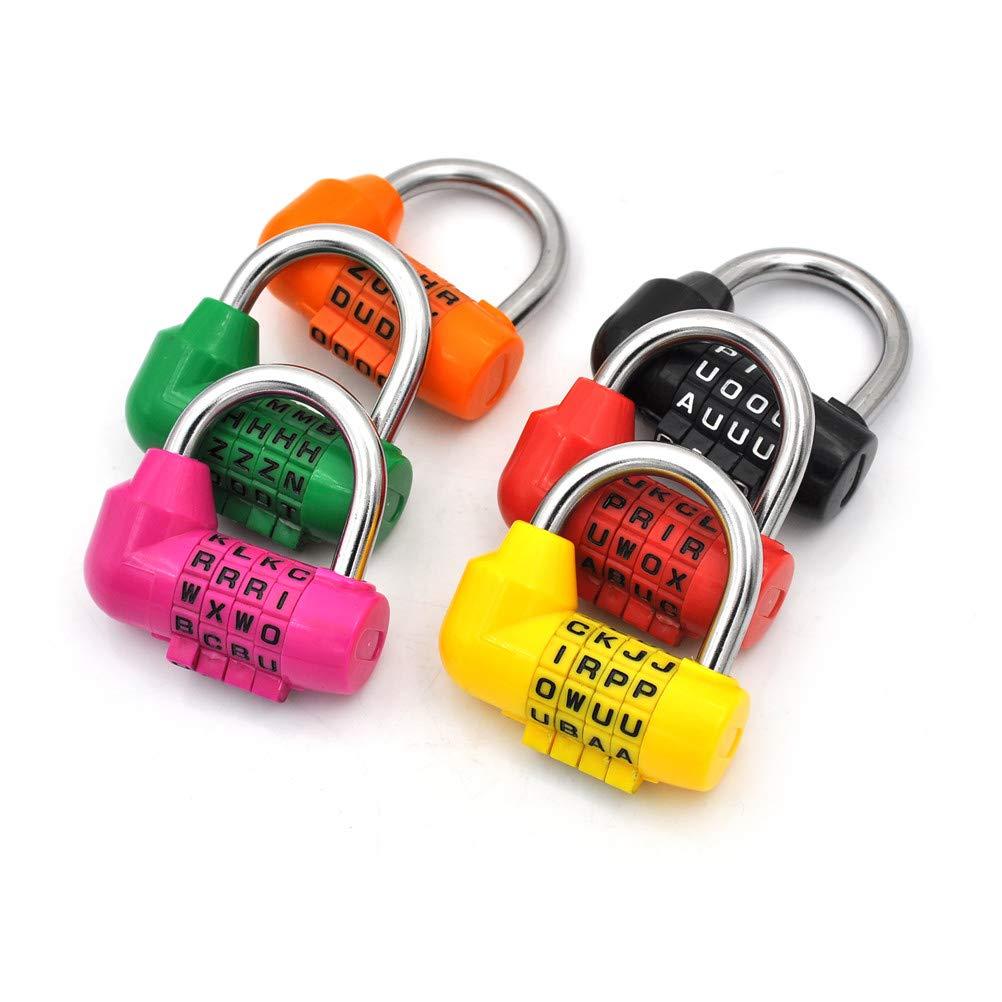 4e79bc5f2e1f BIN BON - 4 Dial Digit Letter Combination Travel Security Code Lock ...