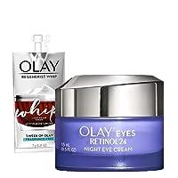 Olay Regenerist Retinol Eye Cream, Retinol 24 Night Eye Cream, 0.5oz + Whip Face...