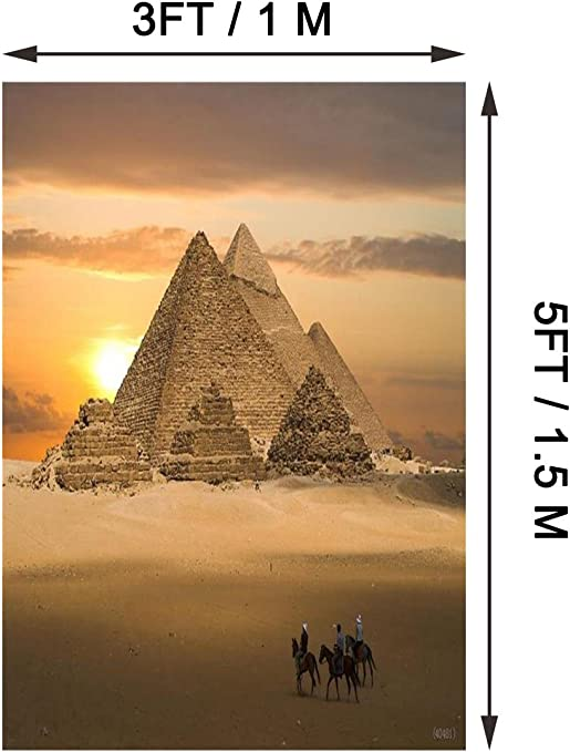 Leyiyi Egypt Pyramid Scenery Backdrop 12x10ft Photography Backdrop Hard Work Camel Golden Sand Adventure Tour Traveling Personal Portraits Studio Props