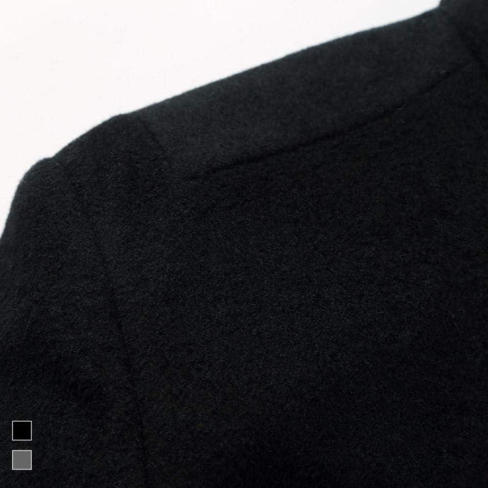 llzshoutao Cappotto di Lana da Uomo di Mezza età con Collo a Lancia Ispessito per Uomo transfrontaliero transfrontaliero Vino rosso
