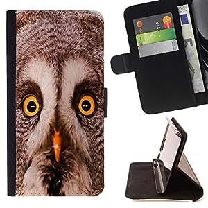 Momo Phone Case / Flip Funda de Cuero Case Cover - Búho del invierno inteligente animal Naturaleza Pájaro - Sony Xperia M2