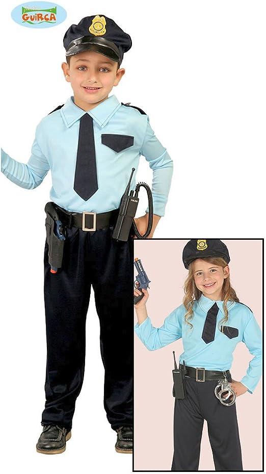 Amakando Disfraz Policial Niño - 7 - 9 años, 127 - 132 cm ...