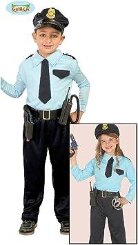 132 cm | Disfraz Infantil Policía | Traje Agente | Uniforme Guardia