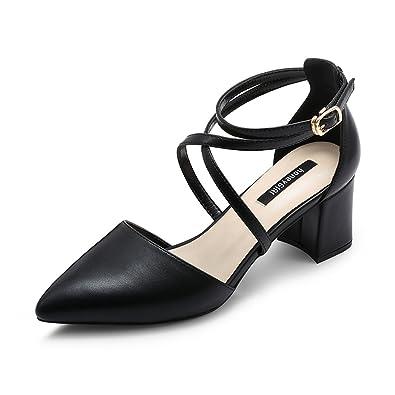 8f34ba79970f3 JE shoes Weibliche High Heel Cross Straps Schuhe mit Absatz: Amazon ...