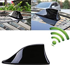 Shark Antenna,Fin Roof Aerial Base Radio Signal for Jeep Ford Compass Cherokee Latitude Universal Car SUV Truck Van,Super Functional & with Adhesive Tape Base