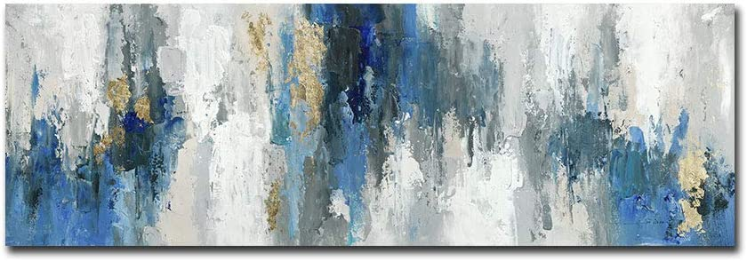 FajerminArt Large Abstract Canvas Wall Art Prints Abstract Colorful Landscape Painting Picture One Panel for Home and Office Decor Original Design (Umframed) (Abstract Painting C, 20 X 60inch)