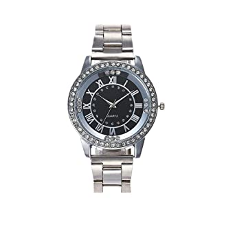 8e6d485c324 Fashion Watch Brezeh Unisex Crystal Rhinestone Stainless Steel Watch  Fashion Luxury Bracelet Analog Quartz Wrist Watch