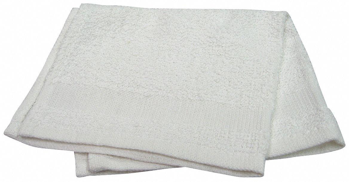 12'' x 12'' 100% Cotton Wash Cloth, White; PK1200