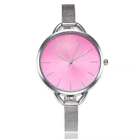 VEHOME Reloj de Cuarzo Casual - Correa de Acero Inoxidable-Relojes Inteligentes relojero Reloj reloje de Pulsera Marcas Deportivos: Amazon.es: Relojes