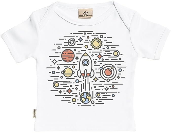 Spoilt Rotten Space Circle Camisetas para bebé niño - Camisetas para bebé niña - Conjunto Regalo