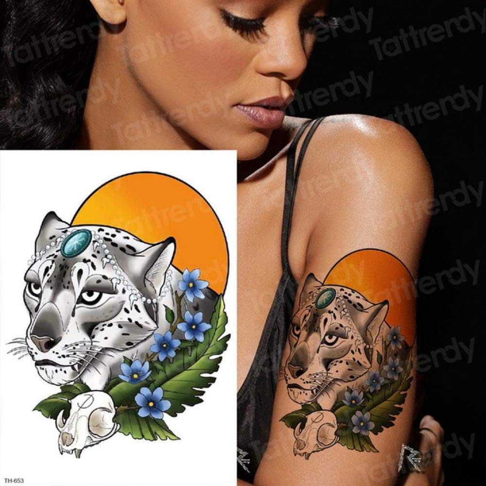 3ps-Pantera negra tatuaje chica leopardo tatuaje animal tatuaje ...