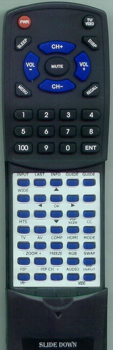VR1 Replacement Remote Control for VIZIO VS42LFHDTV10A VA19LHDTV10A VA19LHDTV10T