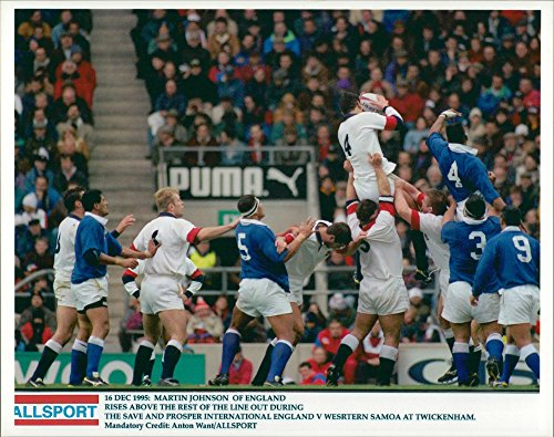 Vintage photo of Rugby Football General 1995: Martin Johnson of England