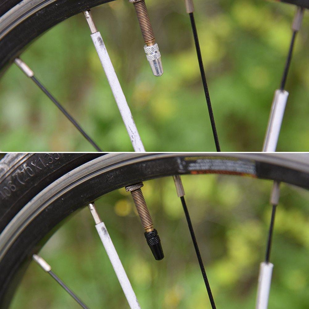 5 x GREEN Aluminium Alloy Tyre Valve Dust Caps 4 1 Car Bike Bicycle Van