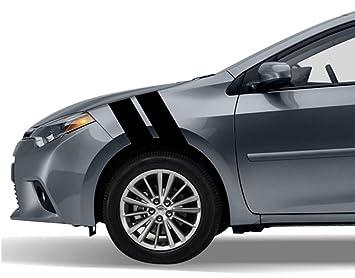 amazon com toyota corolla fender hash mark bars racing stripes 5d rh amazon com Create Your Own NASCAR Toyota 99 Corolla Body Kit