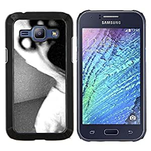 "S-type Oscuro Monster Scary Negro Blanco"" - Arte & diseño plástico duro Fundas Cover Cubre Hard Case Cover For Samsung Galaxy J1 J100"