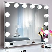 WONSTART Hollywood Espejo Maquillaje con luz,Espejo de Maquillaje montado Mesa/en…