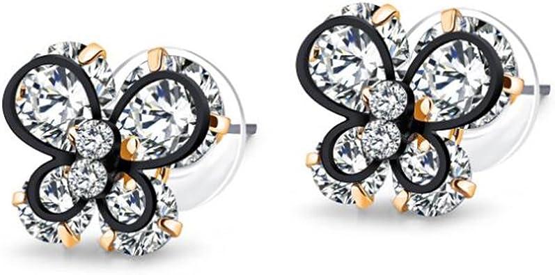 Stud Earrings for Women,Cubic Zirconia Earring Studs Gold or Silver Diamond Stud Stainless Steel Earring