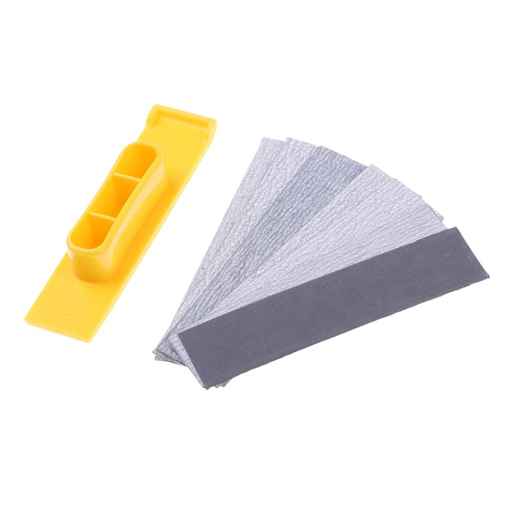 Accessories, Hardware & Tools Model Building P Prettyia Sandpaper 7 Assorted Grits 400/600/1000/1500/2000/2500 Cleaning Stick with Handle for Metal Wood Glass Jewelry